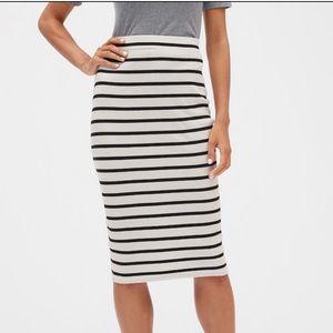NEW Banana Republic Black/White Striped Skirt M